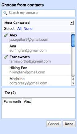 Selecciona los destinatarios de tus correos en Gmail
