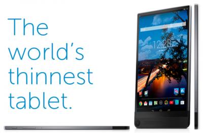 Apple, la tablet más delgada es la Dell Venue 8 7000