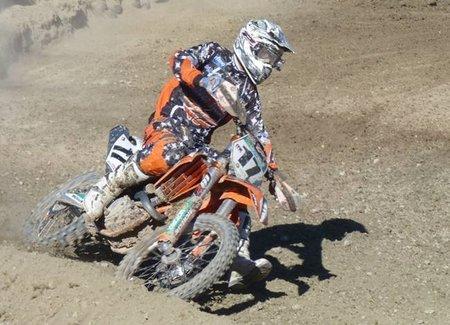 Carlos Campano, subcampeón de España de motocross MXÉlite
