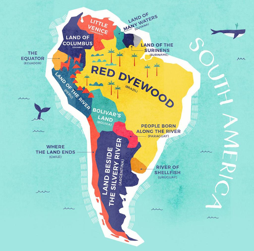 Nombres De Sudamerica
