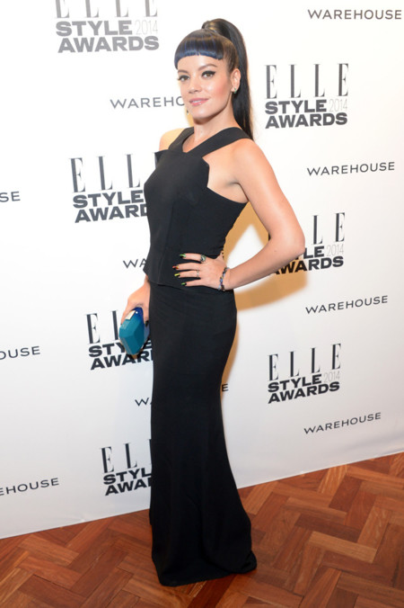 Lilly Allen Roland Mouret Resort 2014 Elle Style Awards 2014 red carpet