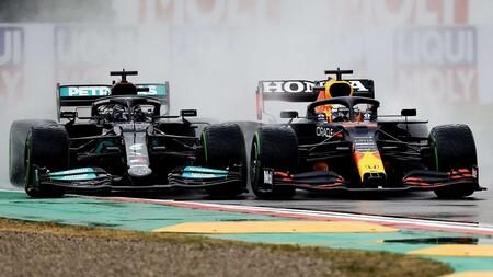 Verstappen Hamilton Imola F1 2021