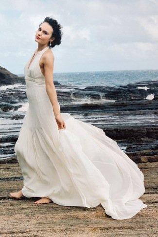 Karl Lagerfeld Lily Allen vestido novia corte imperio