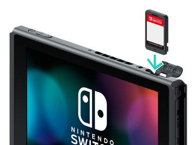 Nada de cartuchos de 64 GB en la Nintendo Switch hasta 2019