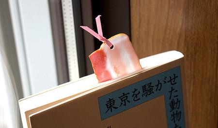 Marcadores de libros con diseño realista de comida