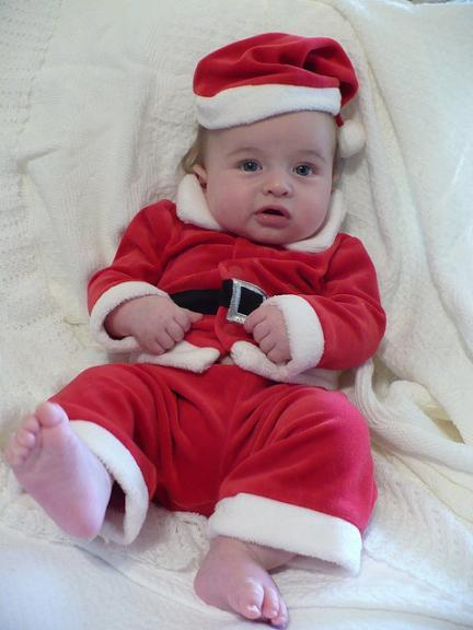 La foto de tu bebé en diciembre: el bebé en Navidad