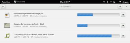 Transfers App Gnome