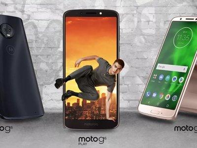 Moto G6 Plus, G6 y G6 Play, estos son sus precios en México