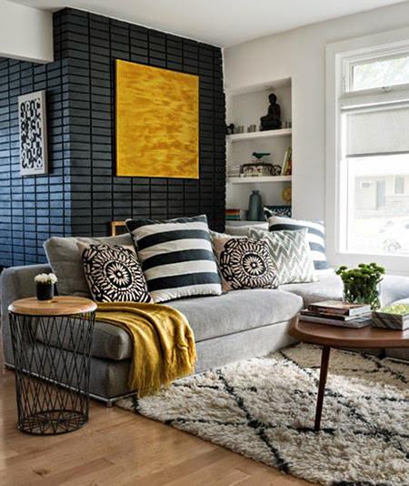 17 ideas para integrar el color amarillo en tu sal n - Objetos decorativos salon ...