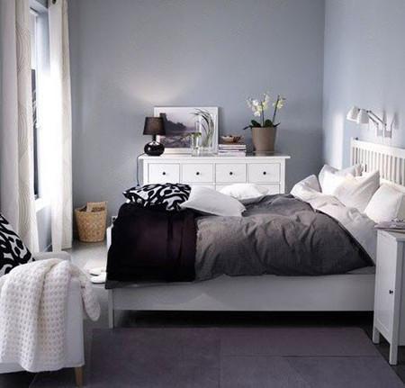 Ikea 1 dormitorio 5 soluciones perfectas - Habitacion gris y blanca ...