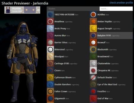 Si quieres previsualizar los shaders de Destiny antes de comprarlos, no te pierdas esta web