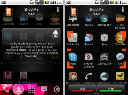 Screen de ShootMe