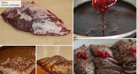 presa ibérica al horno salsa frutos rojos paso a paso directo paladar pakus