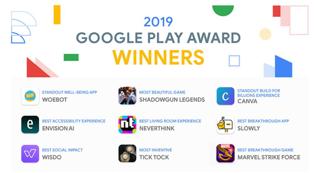 Google Play Awards 2019: estas aire las 9 mejores App del año para Google