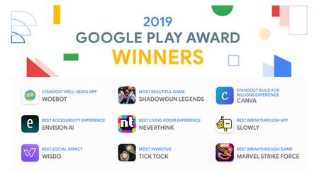 Google Play Awards 2019: estas son las nueve mejores aplicaciones del año para Google