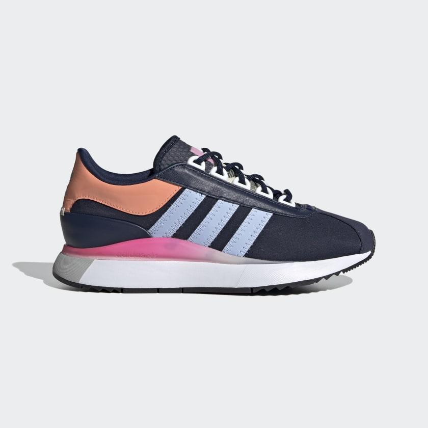 Zapatillas de corte clásico en azul y rosa