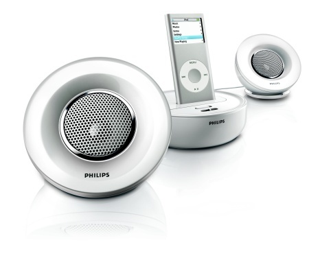 Altavoces Philips SBD600 para el iPod de Apple