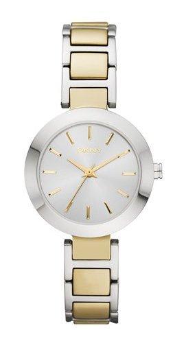 reloj oro y plata DKNY