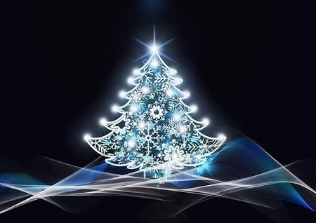 Pequeño árbol de navidad.