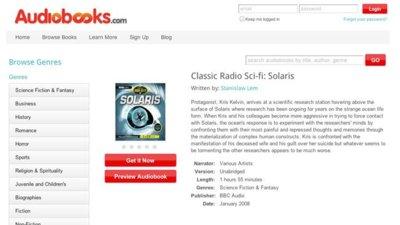 Audiobooks.com, audiolibros en el navegador con suscripción mensual
