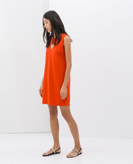 2014 2014 Naranja Vestidos Naranja Zara Zara Primavera Vestidos Zara Primavera 57wvqfB