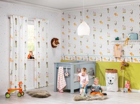 Siete ideas para decorar con papel pintado una habitación infantil