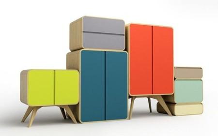 Mueble de almacenaje estilo matrioska de Sasa Mitrovic
