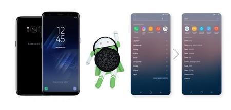 Samsung detalla las novedades que llegarán a los Galaxy S8 con Android 8.0 Oreo en una infografía
