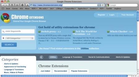 Chromeextensions.org, las extensiones de Google Chrome empiezan a crecer
