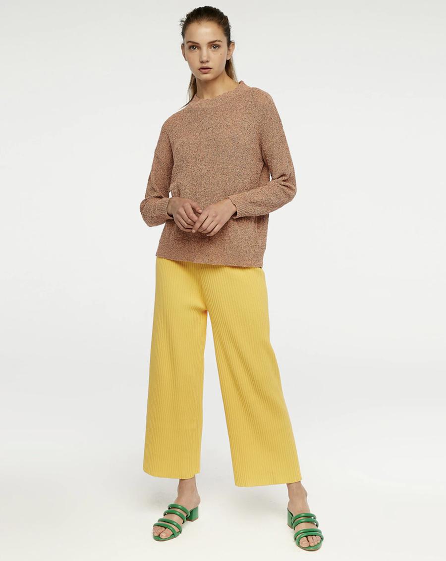 Jersey de mujer de punto con cuello redondo