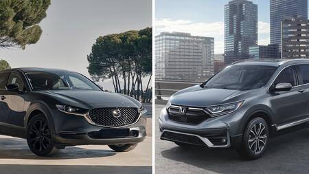 Mazda CX-30 s Grand Touring (turbo) vs Honda CR-V Turbo Plus: enfoques distintos a precios muy cercanos