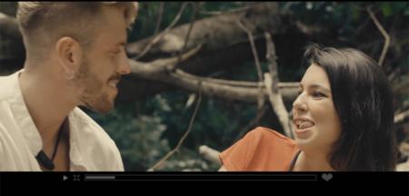 Óscar y Andrea en la primera edición de 'La Isla de las Tentaciones'