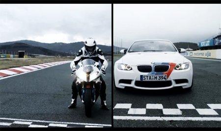 BMW S1000RR vs. BMW M3, el duelo bávaro