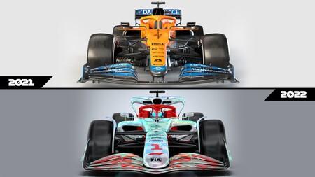 Formula 1 2022 autos regulaciones comparación 2