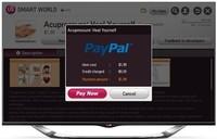 LG integra el sistema de pagos seguros PayPal en sus Smart TV