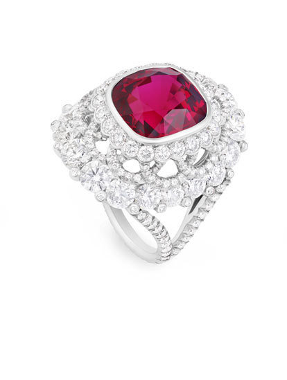 Faberge Spinel Ring