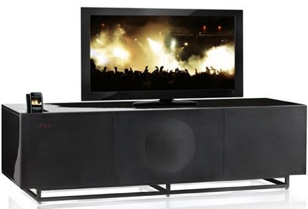 GenevaSound Home Theater, mueble con altavoces integrados