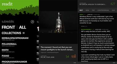 Readit, un buen cliente de Reddit para Windows Phone. La aplicación de la semana