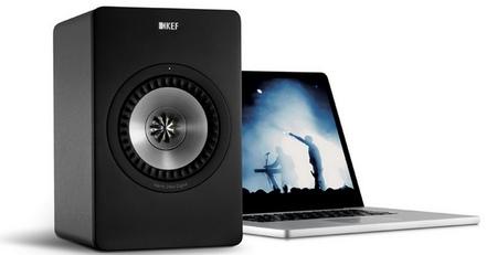 KEF X300A, altavoces activos de escritorio  que no necesitan tarjeta de sonido