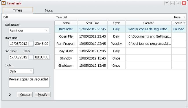 TimeTask, curiosa combinación de gestor de tareas, temporizador y reproductor musical