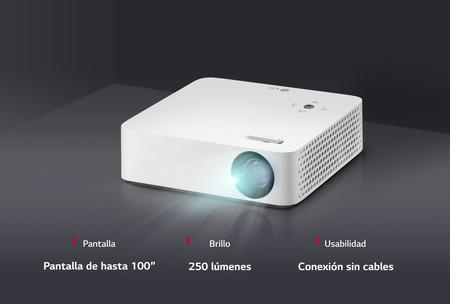 El LG PH30N CineBeam es un proyector portátil, compacto y sin cables, pensado para llevar tus vídeos a cualquier parte