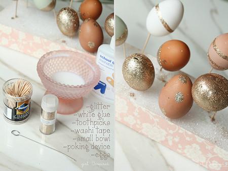 Como Decorar Huevos Con Glitter