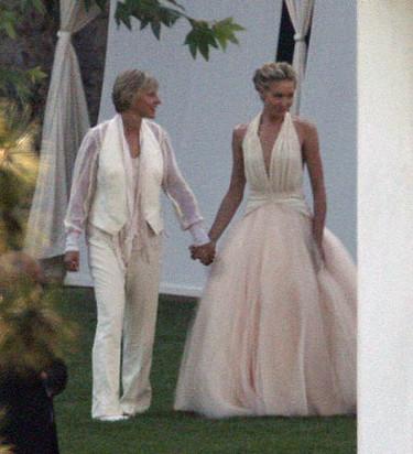 Los trajes de boda de Ellen Degeneres y Portia de Rossi