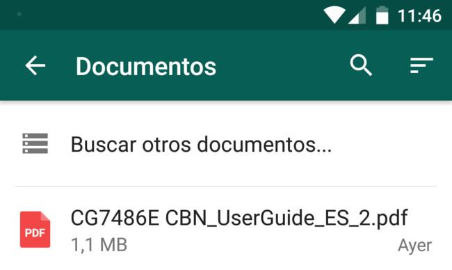 Whatsapp Documentos Novedad