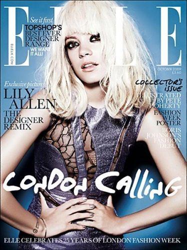 Lily Allen, rubia y portada de la revista Elle