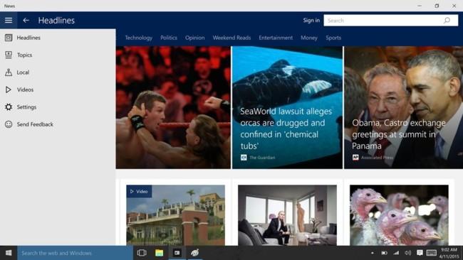 Windows 10 News App 1