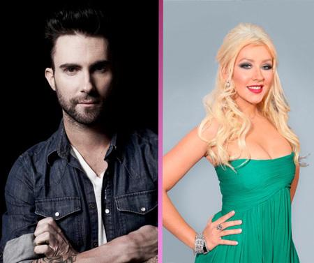 Adam Levine se parte la cara por Christina Aguilera: ¡a mi compi ni la mires!