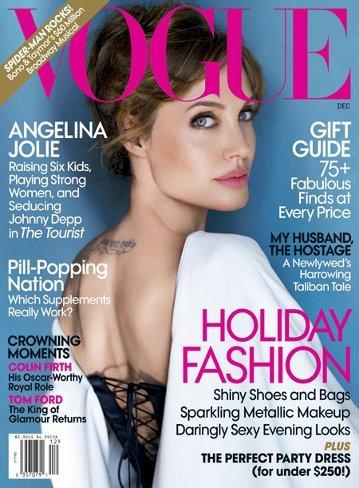 El look de Angelina Jolie en la portada de Vogue USA