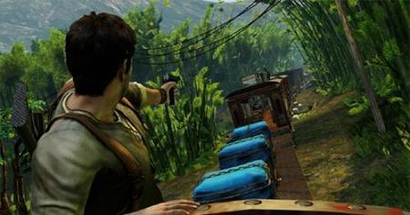'Uncharted 2': la alucinante batalla sobre el tren en vídeo