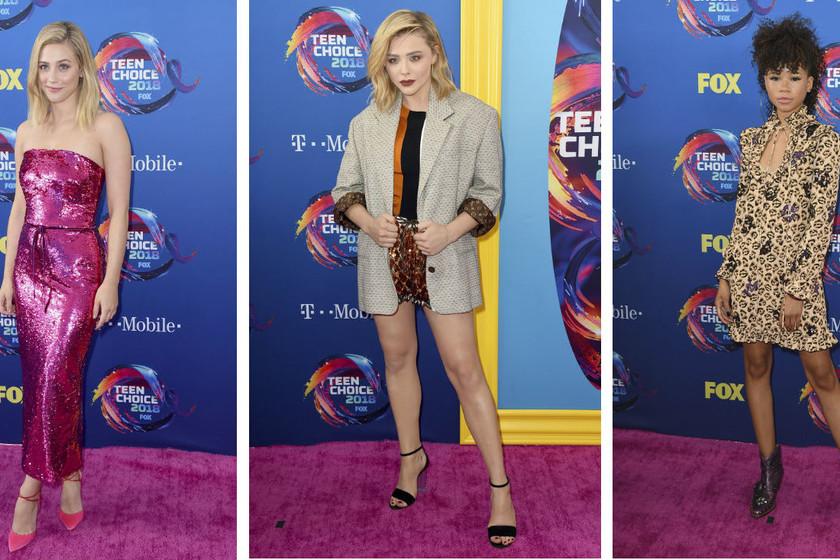 Chloë Moretz en la alfombra roja de los Teen Choice Awards